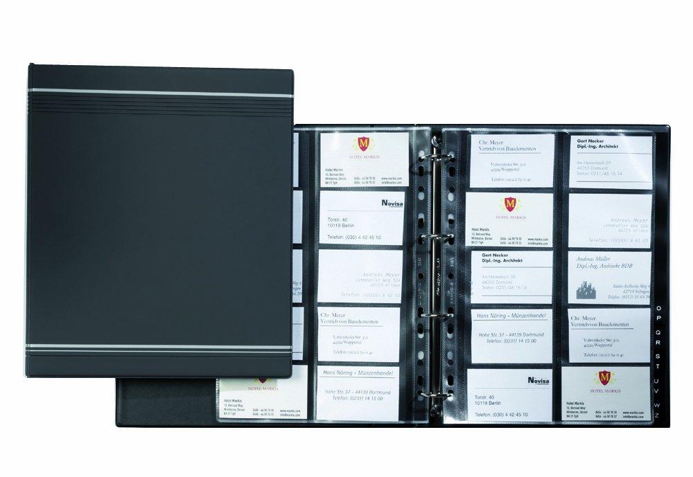 Durable Visifix 400 A4 Business Card Album Anthracite - Grey