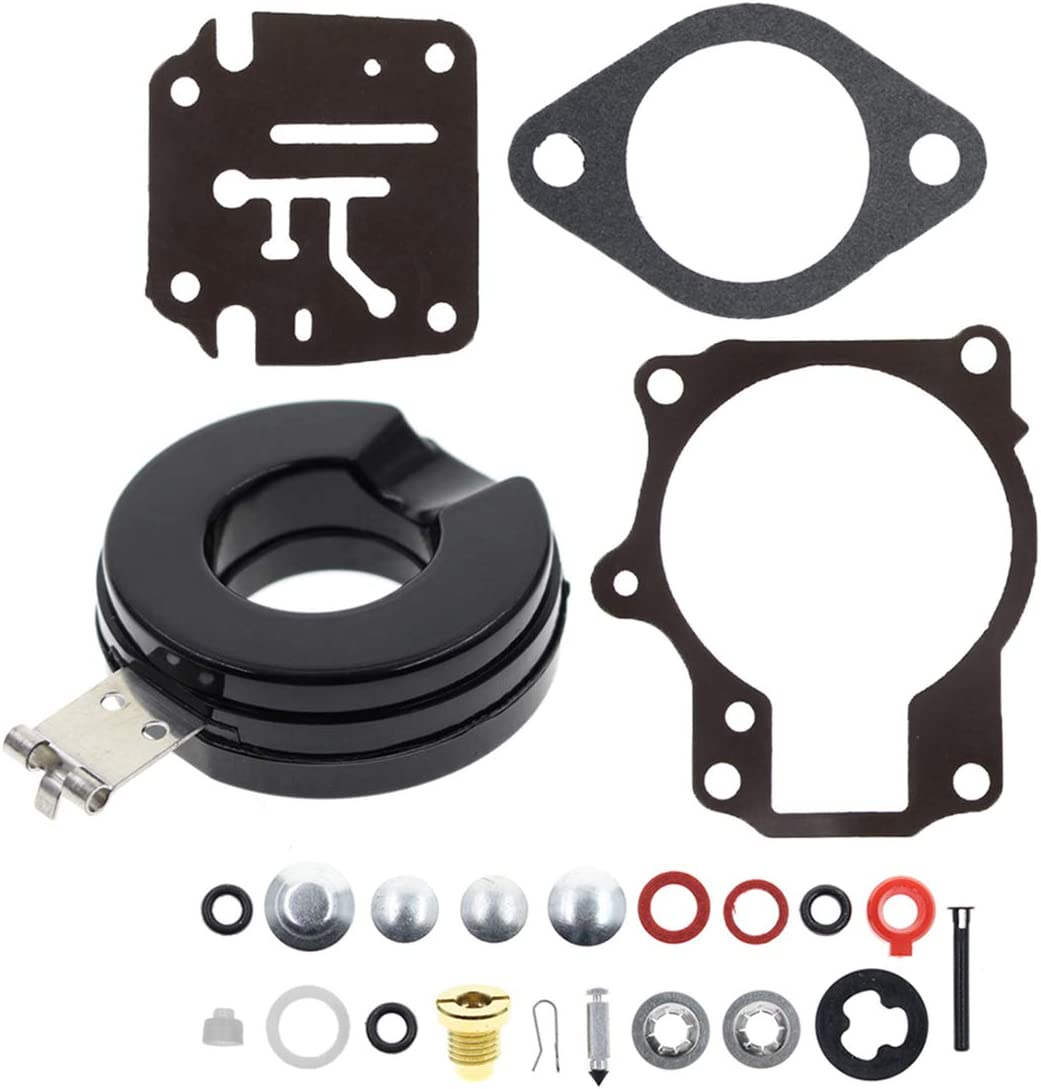 MOTOALL Carburetor Rebuild Repair Kit for Johnson Evinrude 18 20 25 28 30 35 40 45 48 hp 392061 396701 398729 with Floats