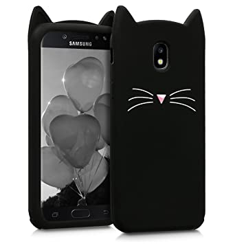 exclusive range super quality how to buy kwmobile Coque Samsung Galaxy J5 (2017) DUOS - Étui de Protection pour  Samsung Galaxy J5 (2017) DUOS - Housse en Silicone Noir-Blanc