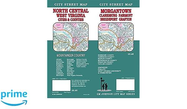 Morgantown/Clarksburg/Fairmont, West Virginia Street Map: GM Johnson ...