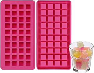 Mini Ice Cube Tray 2 Pack, Silicone Small Ice Cube Tray 80 Cubes, Tiny ice Pop Molds, Small Silicone Molds for Candy Chocolate Even Resin Casting Molds, BPA Free Mini Ice Maker