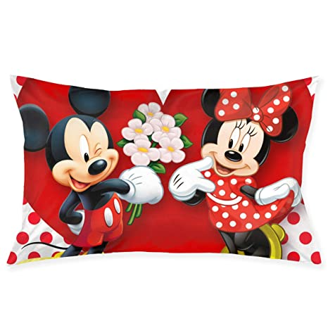 Amazon.com: Fundas de almohada Mickey Mouse Minnie Love ...