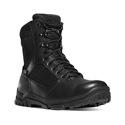 "Danner Men's Lookout Side-Zip 8"" Black Military & Tactical Boot: Shoes"