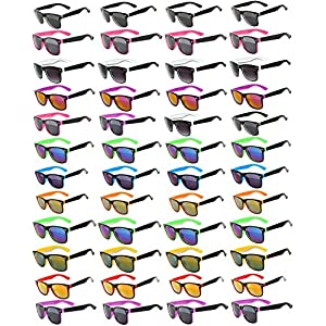 48 Pieces Per Case Wholesale Lot Sunglasses. Assorted Colored Frame Fashion Sunglasses.Bulk Sunglasses - Wholesale Bulk Party Glasses, Party Supplies.