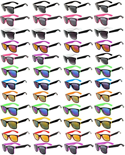 48 Pieces Per Case Wholesale Lot Sunglasses. Assorted Colored Frame Fashion Sunglasses.Bulk Sunglasses - Wholesale Bulk Party Glasses, Party - Lot Sunglasses