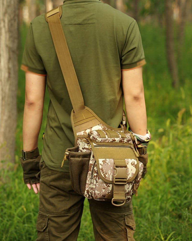 Schultertasche Multifunktions Tactical Umh/ängetasche F/ür Damen Und Herren F/ür Reise Wanderung Camping One Size ACU