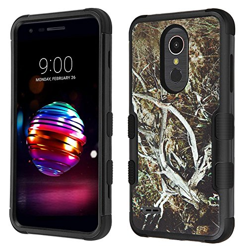 (TUFF Series Hybrid LG Premier Pro Case with Heavy Duty Military-Grade Drop Tested Dual Layer Protection Cover Case - (Outdoor Camo), Atom Cloth for LG Premier Pro L413DL (TracFone))