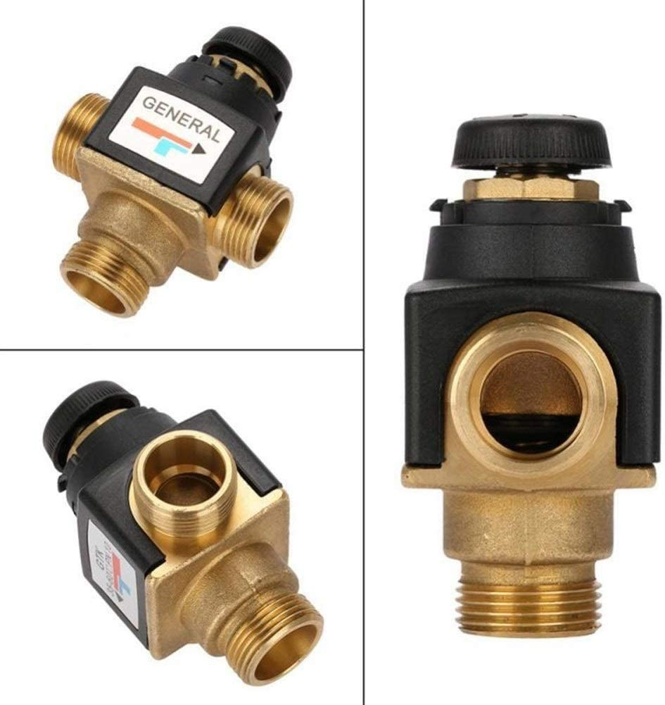 ZEFS--ESD Accessories Repair Accessories 2Pcs 3 Way DN20 Male Thread Brass Thermostatic Mixing Valve for Solar Water Heater