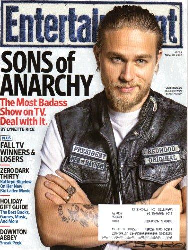 Entertainment Weekly November 30 2012 Charlie Hunnam on Cover (Sons of Anarchy), Zero Dark Thirty, Downton Abbey