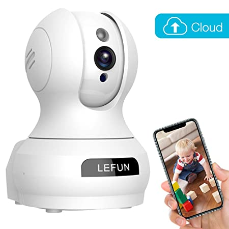 Baby Monitor, LeFun Wireless IP Security Camera WiFi Surveillance Pet Camera with Cloud Storage Two Way Audio Remote Viewing Pan Tilt Zoom Night Vision Motion Detect for Home S hop Office