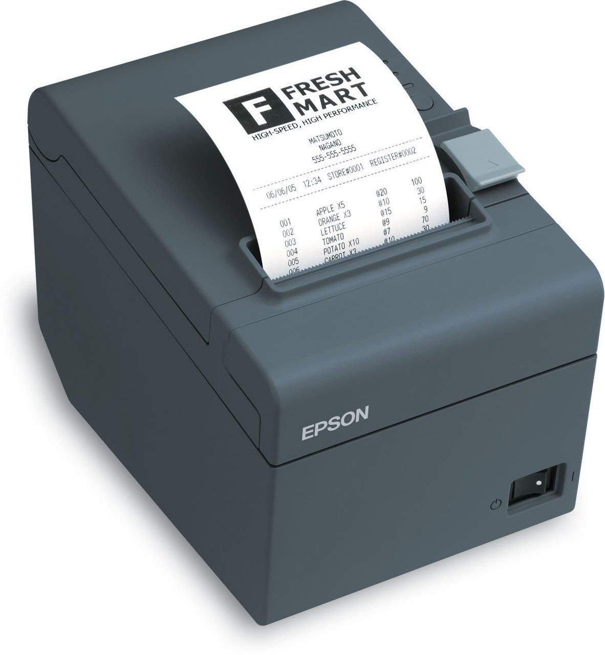 Epson C31CD52A9972 Series TM-T20II Front Loading Thermal Receipt Printer, MPOS, Serial Interface, PS-180 Included, Energy Star Compliant, Dark Gray (Renewed)