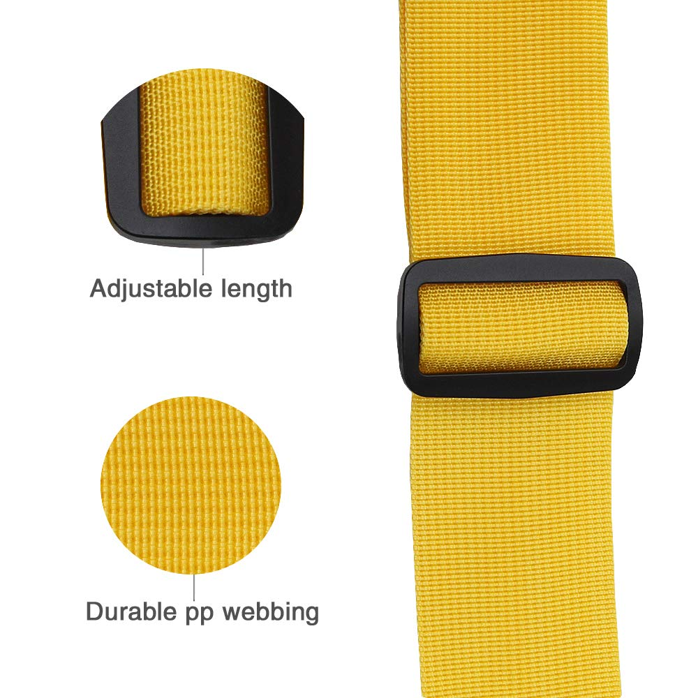 Adjustable Travel Luggage Strap, Nylon Suitcase Belt Luggage Tage Set to Keep Your Luggage Organized and Secure, 43''-78'' Adjustable/Yellow by muyan (Image #5)