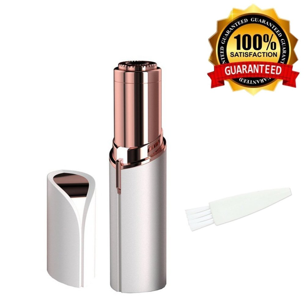 Women's Painless Hair Remover, Perfect For Facial Hair Removal-Mini Shaver in Light Electric Cordless Razor Bikini on Upper Lip Chin Cheek (Battery - Not Included) SHAINS
