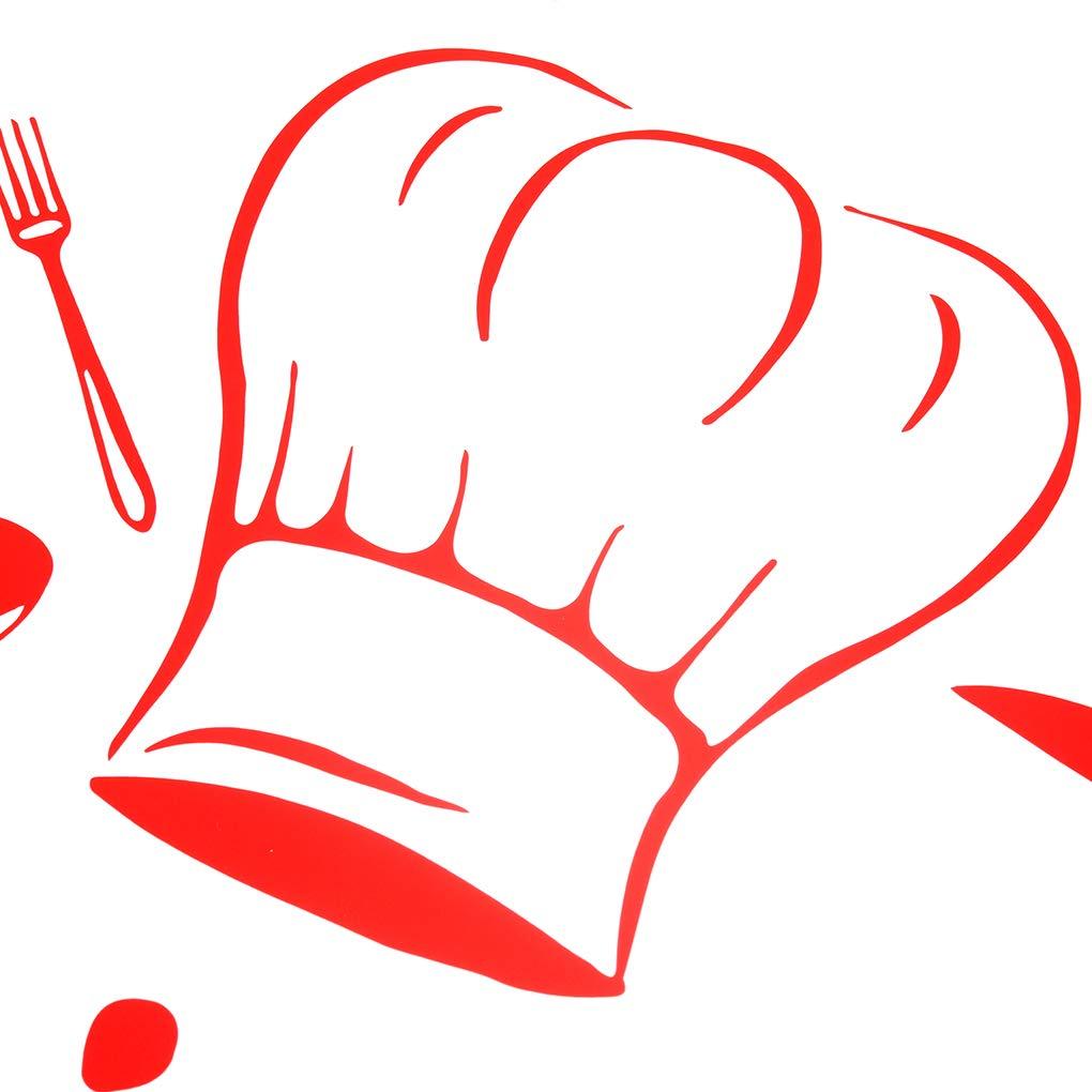 Sunlera Pared de la Cocina Decoraci/ón de la Etiqueta Pegatinas de Cocina du Chef Franc/és Vinilos Adhesivos Papel Pintado Etiqueta engomada Mural de la Pared