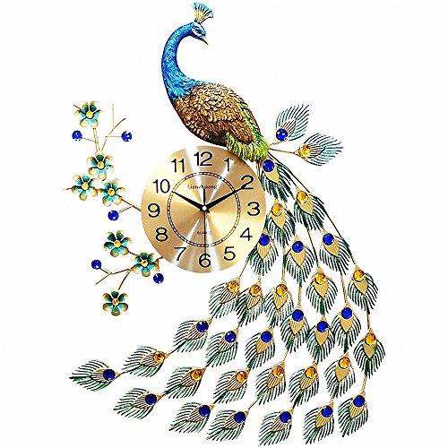 Magicpro Peacock Wall Clock (Peacock Decorative Items)
