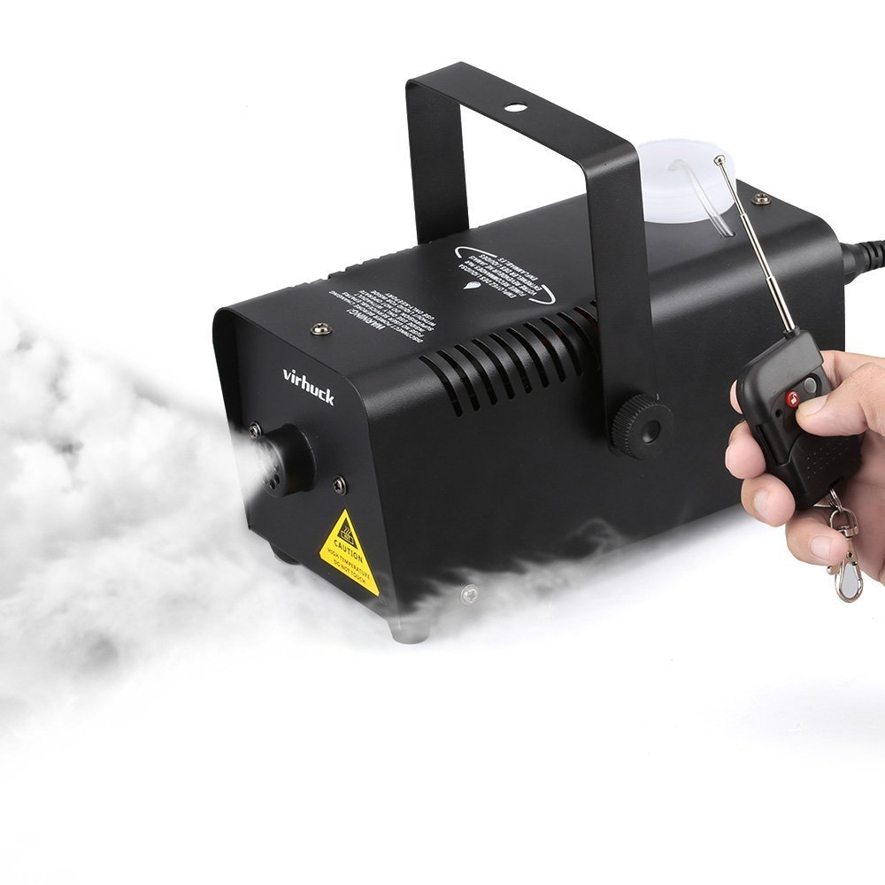 Virhuck 400-Watt Portable Fog Machine with Wireless Remote Control, Smoke Machines for Parties Halloween Weddings Christmas Parties Dance or Drama
