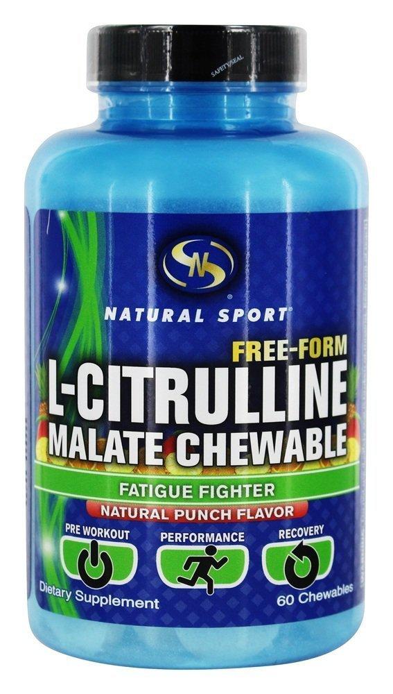 Natural Sport L-Citrulline Malate Chewable Capsules, 60 Count