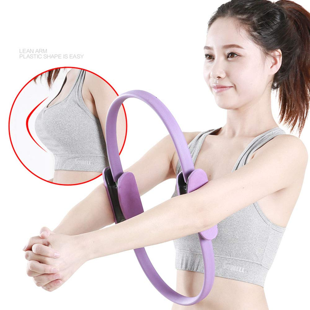 HJUN Anillo de Yoga círculo Pilates con manijas de Agarre ...
