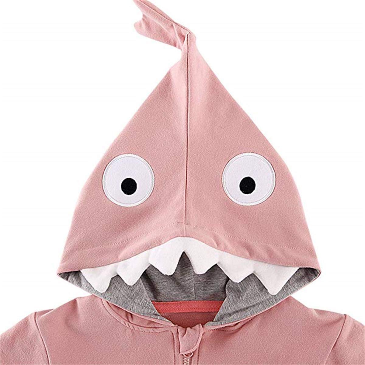 Lemohome Baby Boys Shark Outerwear Jacket Toddler Hooded Autumn Sweatshirt 1-4 Years