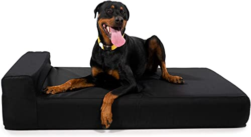 K9 Ballistics Giant 7 Bolster Orthopedic Dog Beds, USA Made CertiPUR-US Foam, Double Cover, Rip-Stop Waterproof Liner Included, XL, XXL, X-Large, Giant