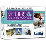 Stages Learning Materials Language Builder Verb Flash Cards Photo Vocabulary Autism Learning Products for Aba Therapy & Speec