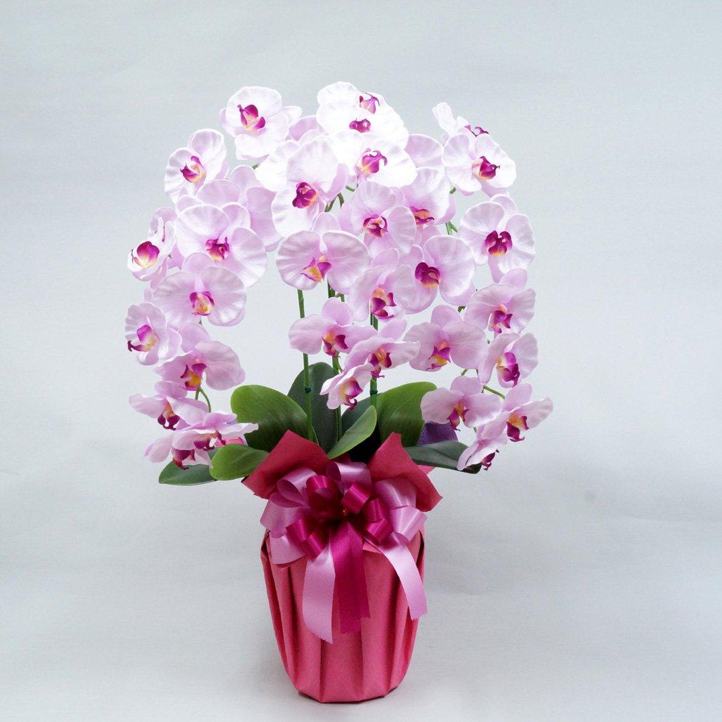 高級胡蝶蘭3本立ち(光触媒)シルクフラワー造花 (ラベンダー) B0159SCUMI ラベンダー ラベンダー