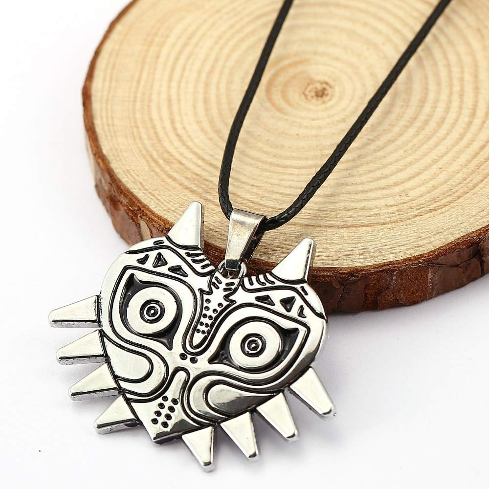 Value-Smart-Toys - 12pcs/lot The Legend Of Zelda: Majora's Mask Necklace Game Silver Plated Pendant Classic Cosplay Party rope Statement Necklace