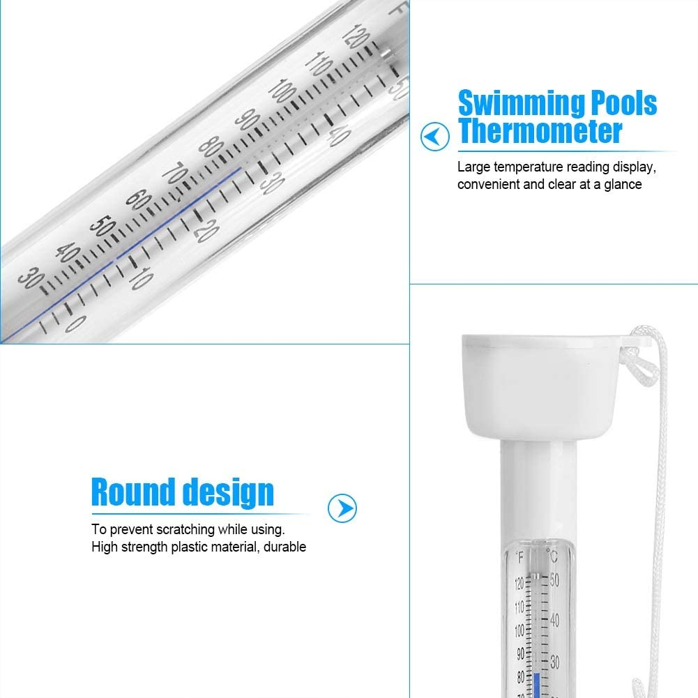 Large Floating Thermometer for Outdoor /& Indoor Swimming Pools Spas Hot Tubs Fish Ponds ℃ /& ℉ Pool Thermometer