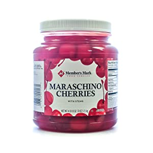 Maraschino Cherries with Stems, 74 Ounce Jar