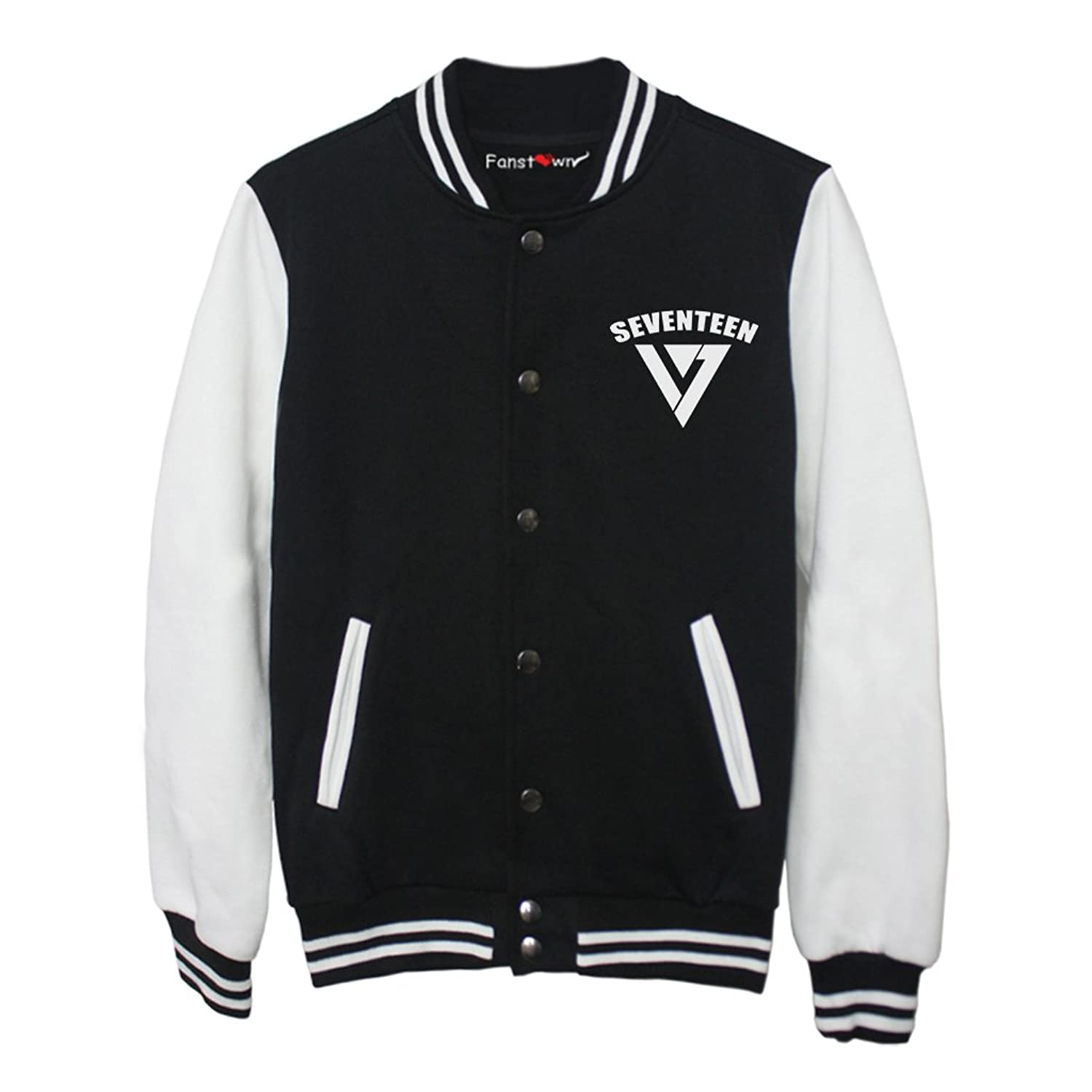 Fanstown Seventeen kpop baseball jacket hoodie with lomo cards at ...