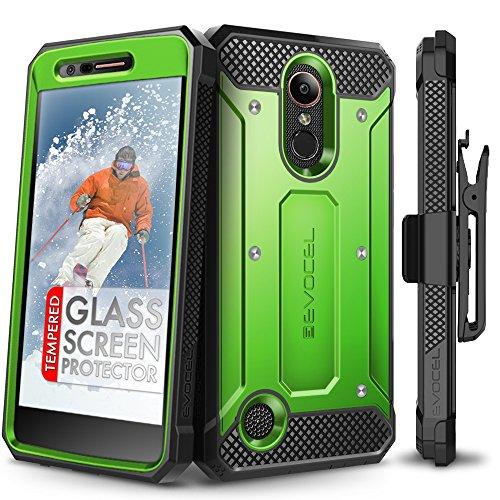 LG K20 Plus Case, Evocel [Explorer Series] with Free [LG K20 Plus Glass Screen Protector] Premium Full Body Case [Slim Profile][Rugged Belt Clip Holster] for LG K20 Plus / K20 - Harmony Green