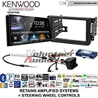 Kenwood DDX9704S Double Din Radio Install Kit with Apple Carplay Android Auto Fits 2012-2014 Volkswagen Beetle, 2010-2014 Golf, 2006-2015 Jetta