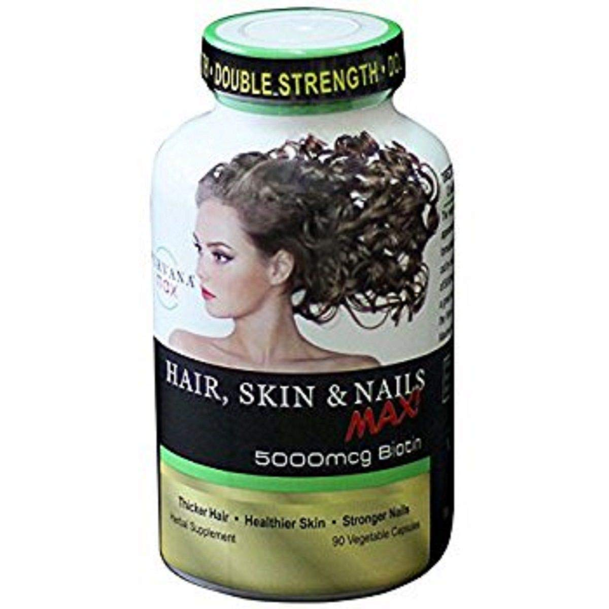 Purvana MAX by Wellgenix 5000mcg Hair Skin and Nails 90 veggie capsules