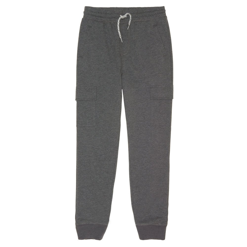 French Toast Toddler Boys' French Terry Cargo Jogger, Charcoal Heather Gray Single Dye, 4T