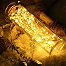 Solar String Lights,Goodia 33ft 10m 100 LED Copper Wire Lights for Outdoor,Bedroom,Patio,Lawn,Landscape,Fairy Garden,Home,Wedding,Holiday,Christmas Tree,Halloween,Party (Warm White)