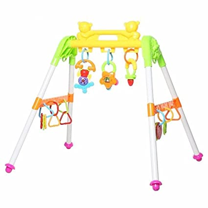 M Alive Infant Baby Musical Fitness Equipment Play Gym Baby Exercise Toy Rattles For 3
