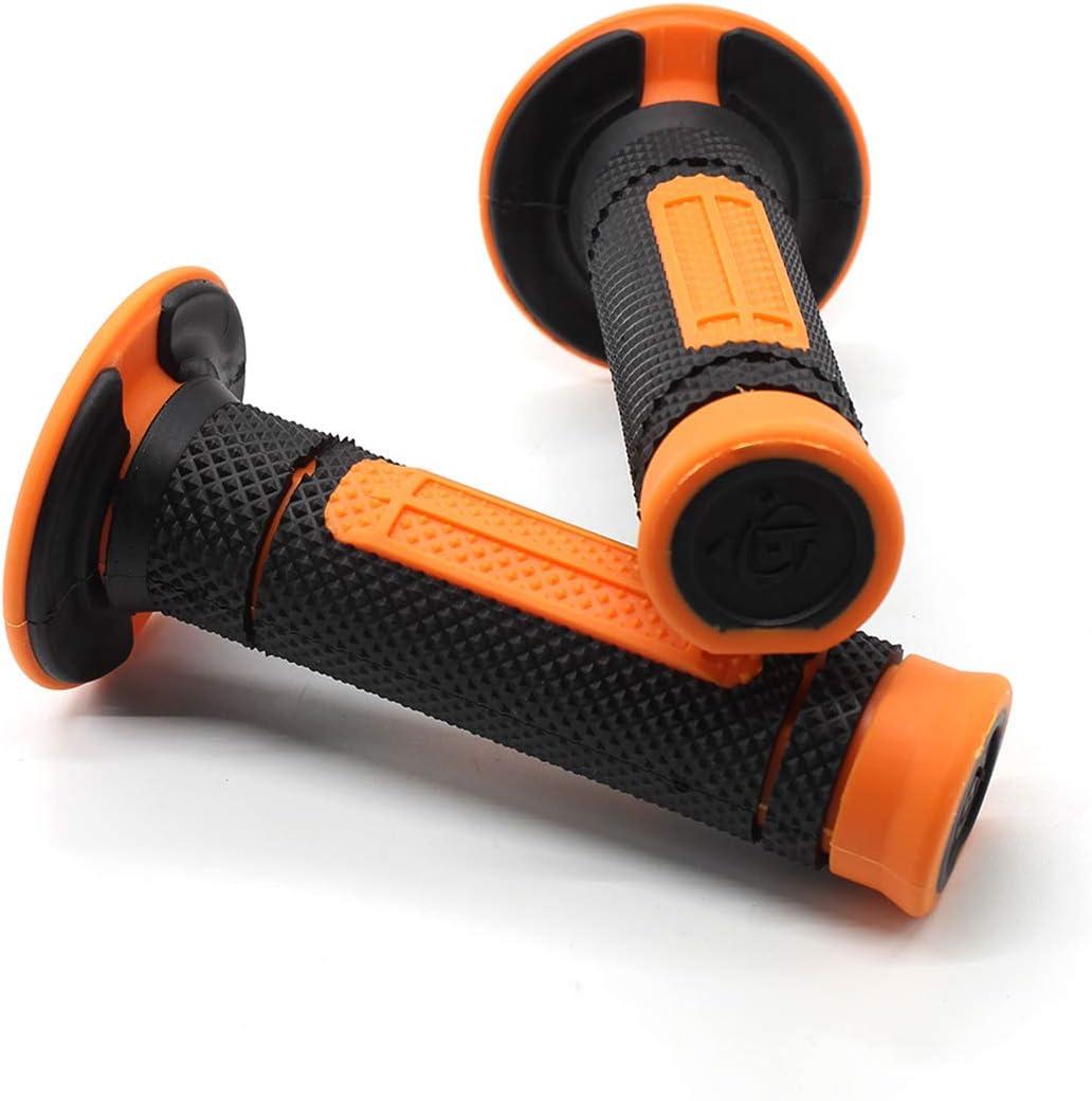 Aikeec Motorcycle Handlebar Grips Handlebar Rubber Bar End Thruster Grip Compound Hand Grips 7//8 22mm