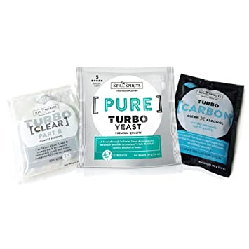 Destilada aún licores Pure (Triple) Turbo sistema (Turbo transparente/carbono/levadura): Amazon.es: Hogar