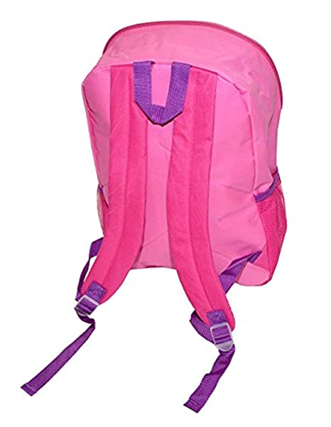 00-W9QFBS-7M Disney Minnie Mouse Girls Large Backpack With Lunch Bag Pink Multi