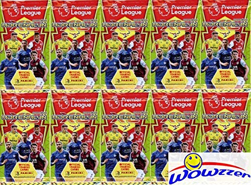 2019/20 Panini Adrenalyn XL English Premier League Soccer Collection of TEN(10) Factory Sealed Foil Packs with 60 Cards! Look for Cards of all the Top Stars of the Premier League! Imported from Europe