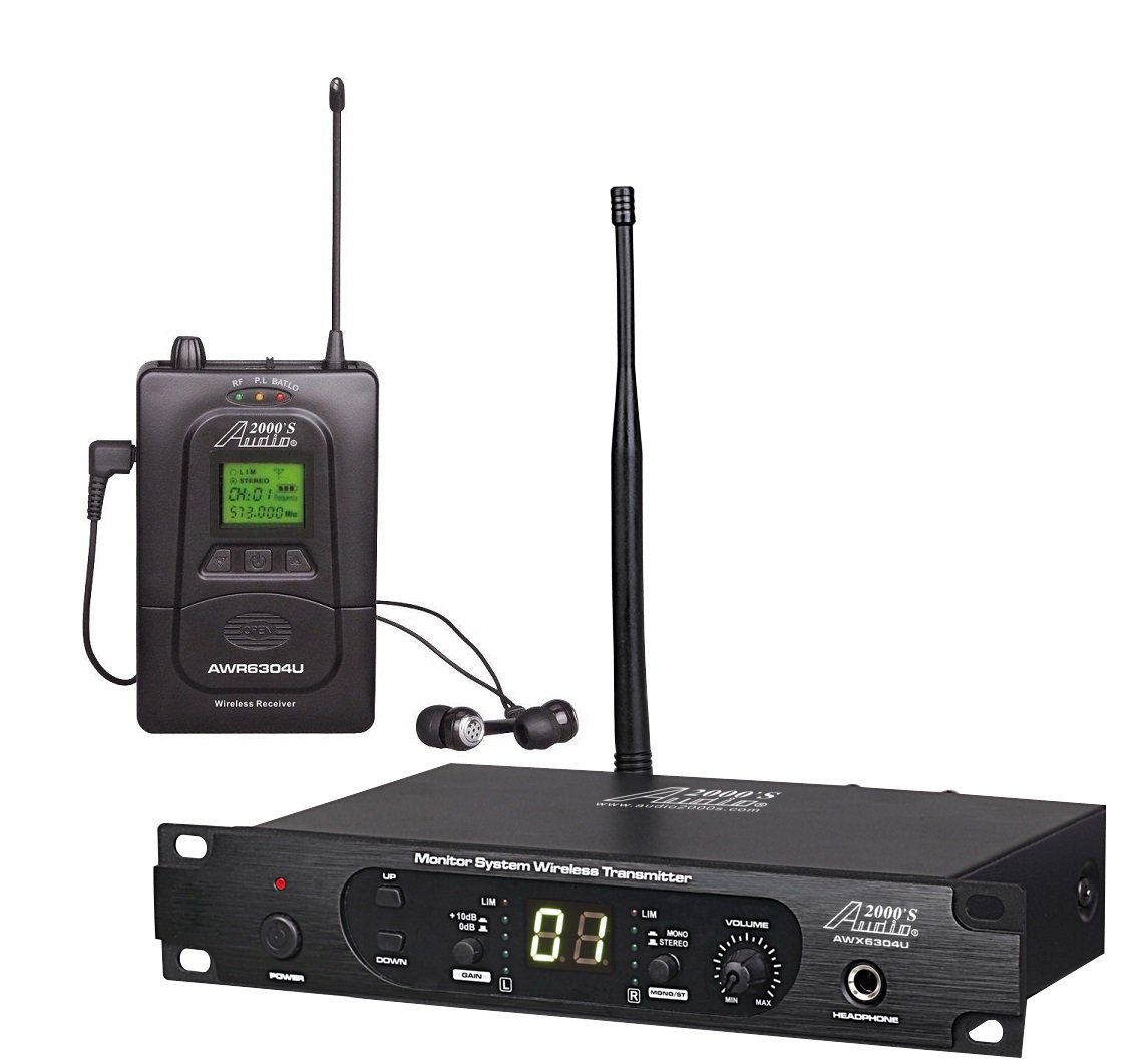 Audio2000'S AWM6304U 100 Selectable Frequency UHF In-Ear Monitor System by Audio 2000S