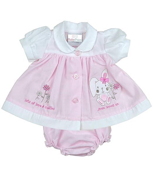 8d57a6bf6a70 BabyPrem Premature Baby Dress Knickers Set Bunny Preemie Clothes 3-5lb Pink