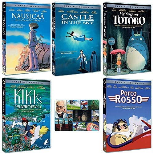 The Founders Collection: Written & Directed by Hayao Miyazaki (Nausicaa of the Valley of the Wind / Castle in the Sky / My Neighbor Totoro / Kiki's Delivery Service / Porco Rosso) + Bonus Art Card