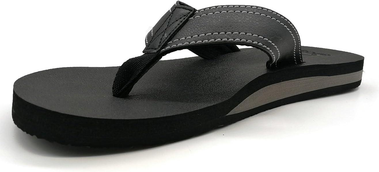 3cc2de10f6b45f ... Men s Yoga Mat Leather Flip Flops Thong Sandals with Arch Support best  quality 40155 22156  KuaiLu ...