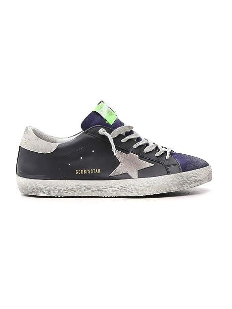 GOLDEN GOOSE G34MS590N15 Hombre Negro Cuero Zapatillas: Amazon.es: Zapatos y complementos