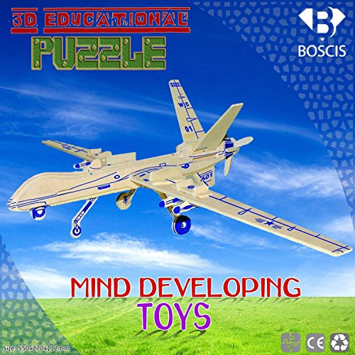 3D Puzzle Robot Bomb, Handmade Assemble Puzzle Toys, Educational Wooden Hand Craft Construction Kit, Entertainment Gift For You