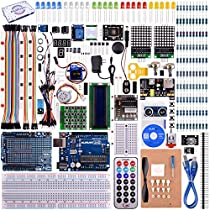 kuman UNO R3 Project Complete Starter Kit with Tutorial for Arduino UNO Board Mega2560 Mega328 Nano (66 Items)K27 (Uno R3 Kit)