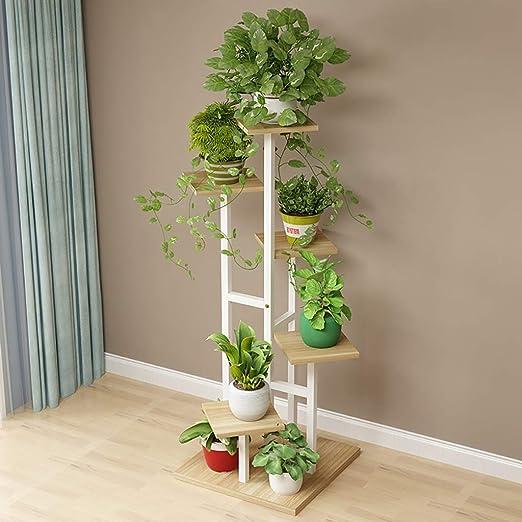 YXWa Puesto de Plantas Escalera Floral, 5 Capas, diseño Decorativo ...