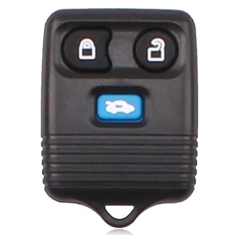 Heart Horse 3 Botón Transit Connect Azul Remote Key Fob Case Shell Botones de Goma Pad
