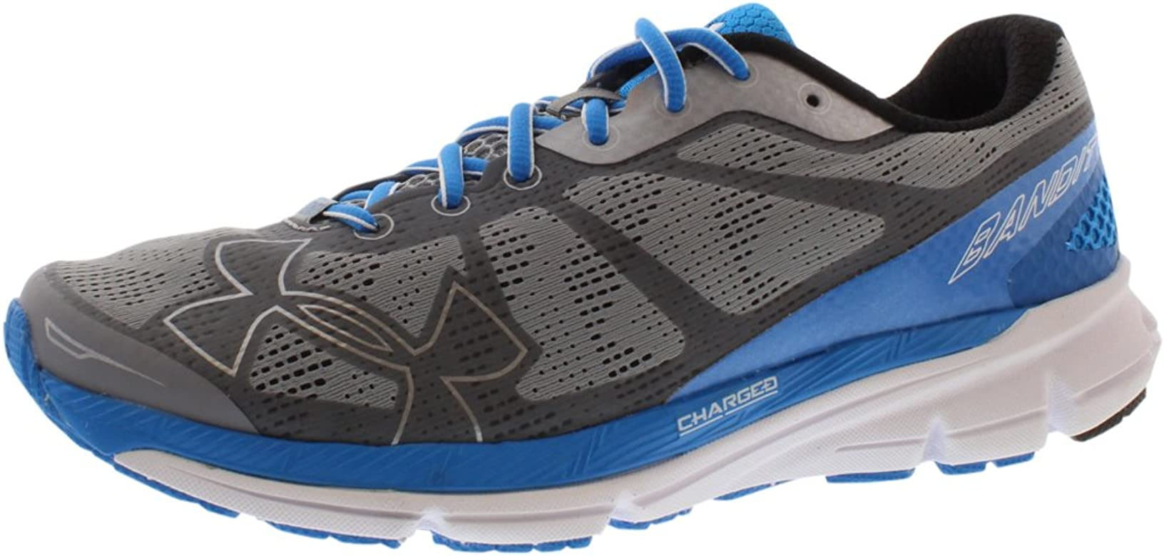 Under Armour UA Charged Bandit Zapatillas de correr para hombre, acero/negro/azul jet, 8 UK: Amazon.es: Zapatos y complementos
